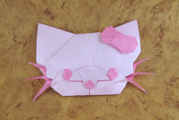 Origami Hello Kitty - Cutie cat by Marc Kirschenbaum folded by Gilad Aharoni on giladorigami.com