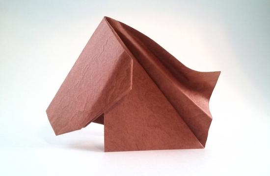 Origami Horse Head By Yara Yagi Folded Gilad Aharoni