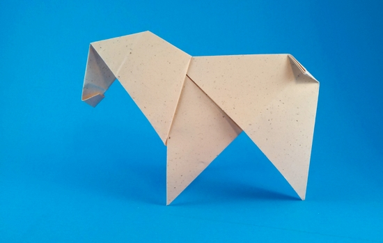 Origami Horse by Paul Jackson folded by Gilad Aharoni on giladorigami.com