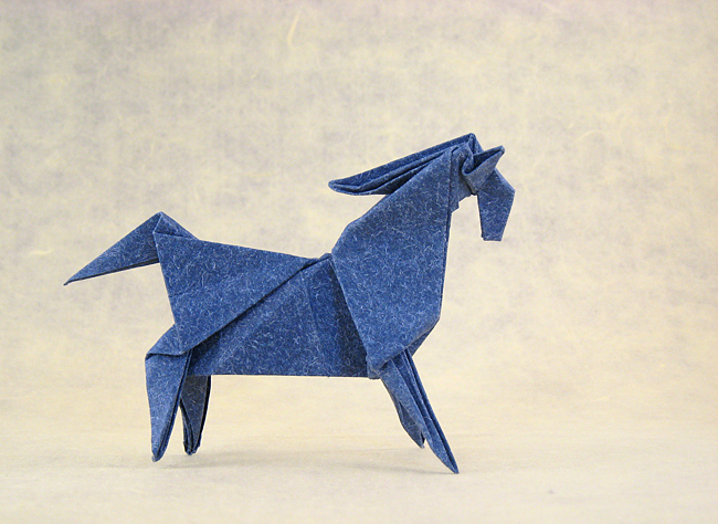 Origami Horse By Jun Maekawa Folded From A Square Of Textured Paper Gilad Aharoni