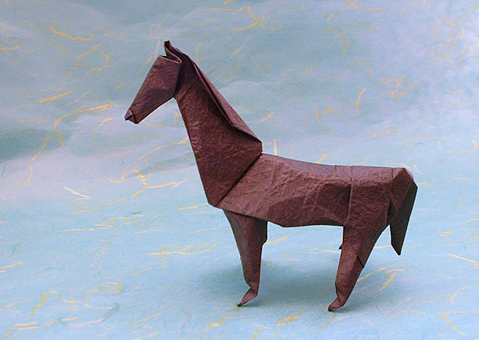 Origami Horse by John Montroll folded by Gilad Aharoni