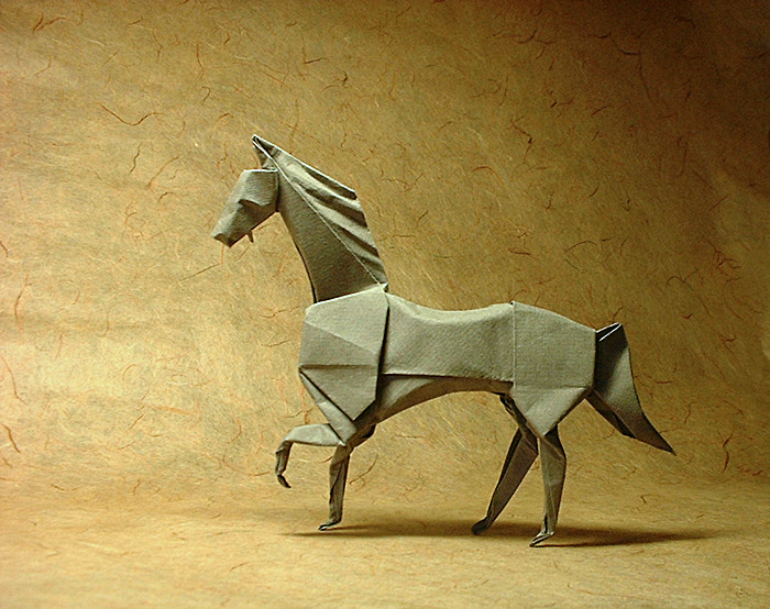 Origami Horse by John Montroll folded by Gilad Aharoni on giladorigami.com