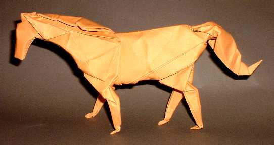 Origami Horse by Jose Anibal Voyer folded by Gilad Aharoni