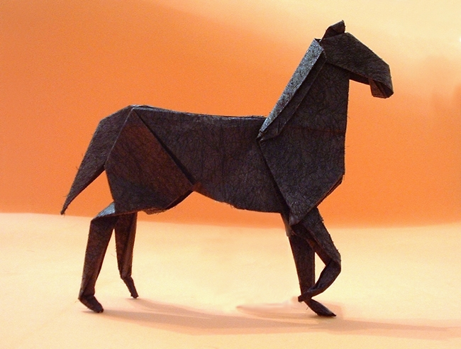 Origami Horse Tutorial - Version 2 - Origami Pony - Paper Kawaii | 492x650