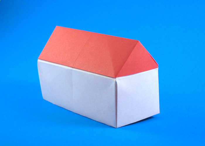 Origami House by Roman Diaz folded by Gilad Aharoni on giladorigami.com