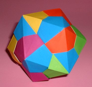 6 Units Origami Icosahedron By Tomoko Fuse Folded From Squares Of Paper Gilad Aharoni On