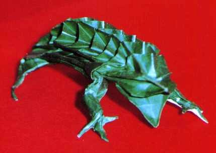 Origami Iguana by Jean Claude Correia folded by Gilad Aharoni on giladorigami.com