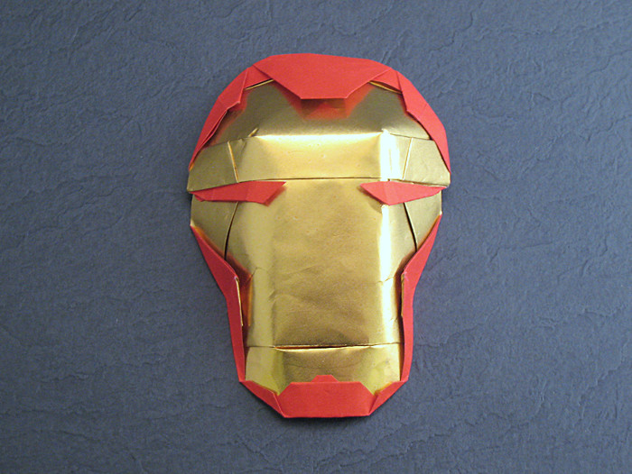 Origami Iron Man - Armor mask by Brian Chan folded by Gilad Aharoni