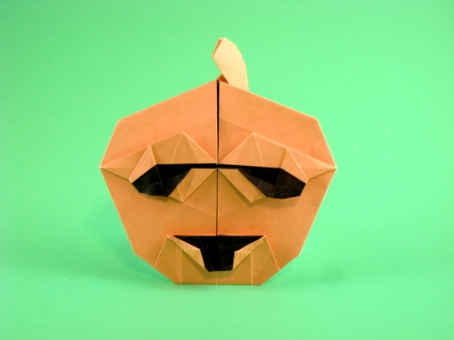 Origami Jack-O-lantern by Deborah Claypool folded by Gilad Aharoni