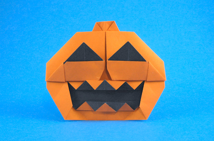 Origami Jack-o-Lantern by Jun Maekawa folded by Gilad Aharoni