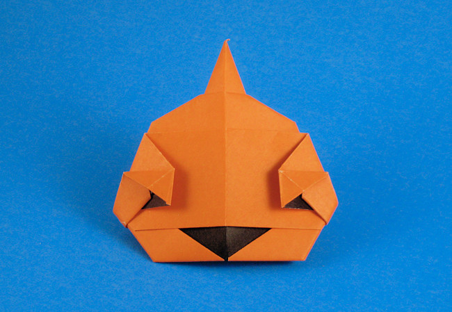 Origami Jack-O-Lantern by Eiji Tsuchito folded by Gilad Aharoni