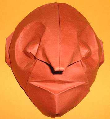 Origami Mask By Eric Joisel Wet Folded From A Square Of 160gsm Canson Paper