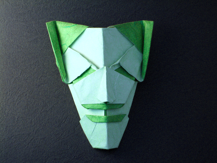 Origami Joker by Gabriel Alvarez Casanovas folded by Gilad Aharoni on giladorigami.com