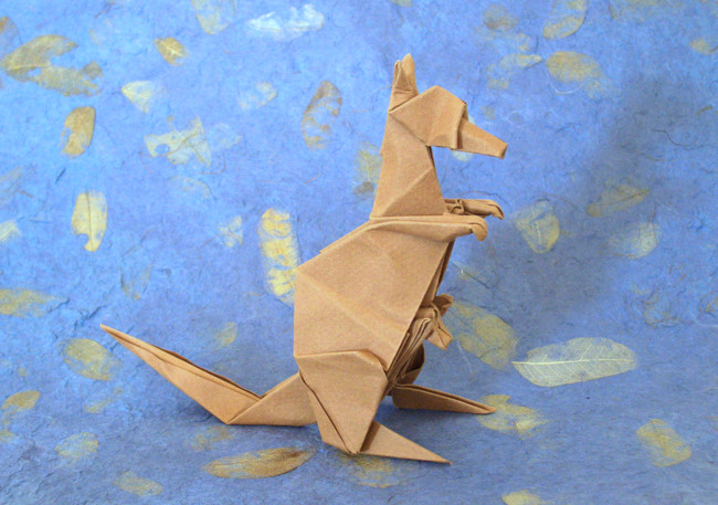Origami Kangaroo by Peter Engel folded by Gilad Aharoni