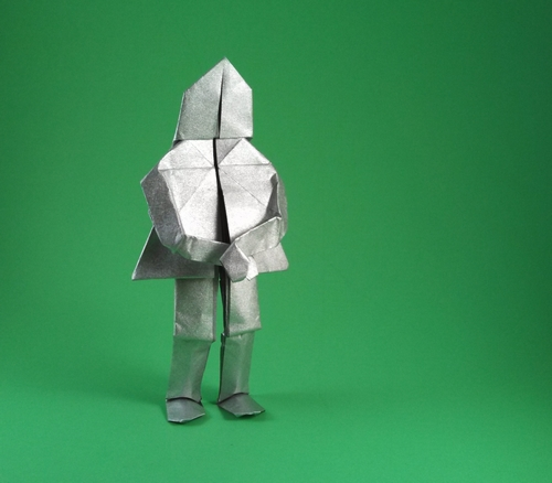 Origami Knight by Neal Elias folded by Gilad Aharoni on www.giladorigami.com