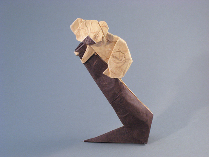 Origami Koala On Stump By Steven Casey Folded Gilad Aharoni Giladorigami