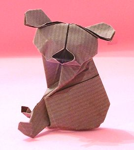Origami Koala by Alfredo Giunta Folded from a square of duo kraft paper by Gilad Aharoni on giladorigami.com