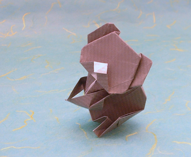 Origami Koala by Yoshihide Momotani folded by Gilad Aharoni on giladorigami.com