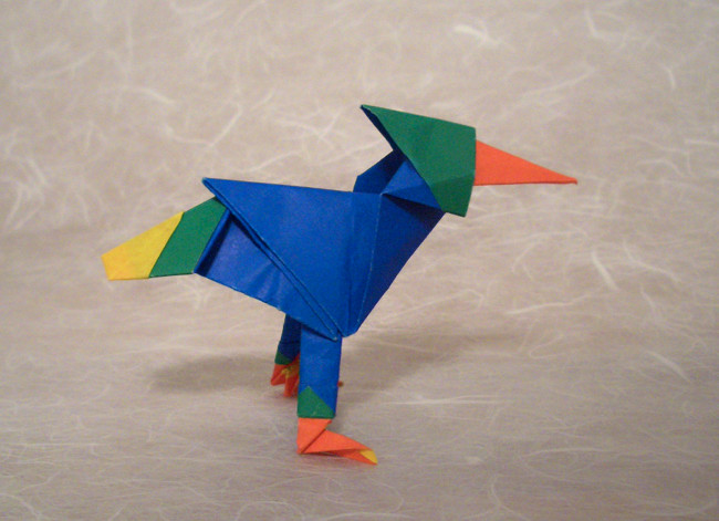 Origami Multi-layered bird by Nicolas Terry folded by Gilad Aharoni on giladorigami.com