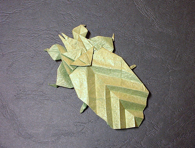 Origami Leaf insect by Fumiaki Kawahata folded by Gilad Aharoni