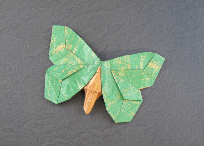 Origami Butterfly - Leaf-wing by Robert J. Lang folded by Gilad Aharoni on giladorigami.com