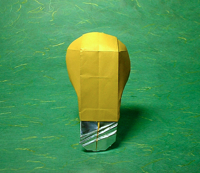 origami lightbulb