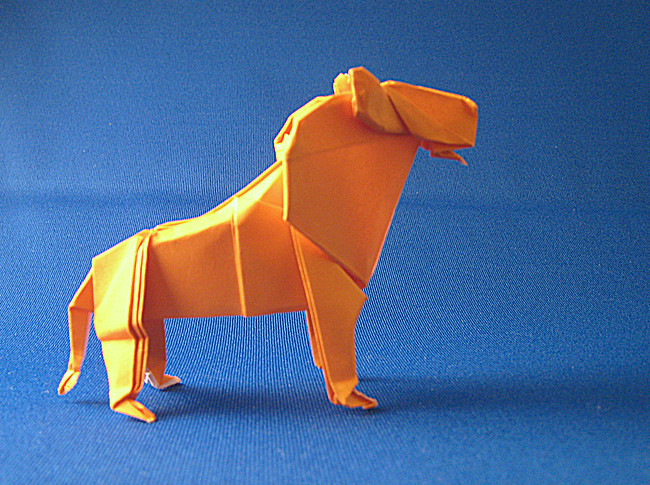Origami Lion by Cesar Gonzales folded by Gilad Aharoni