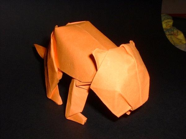 Origami Lion Cub By David Brill Folded Gilad Aharoni