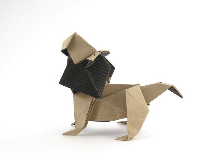 Origami Lion By Fuchimoto Muneji Folded Gilad Aharoni