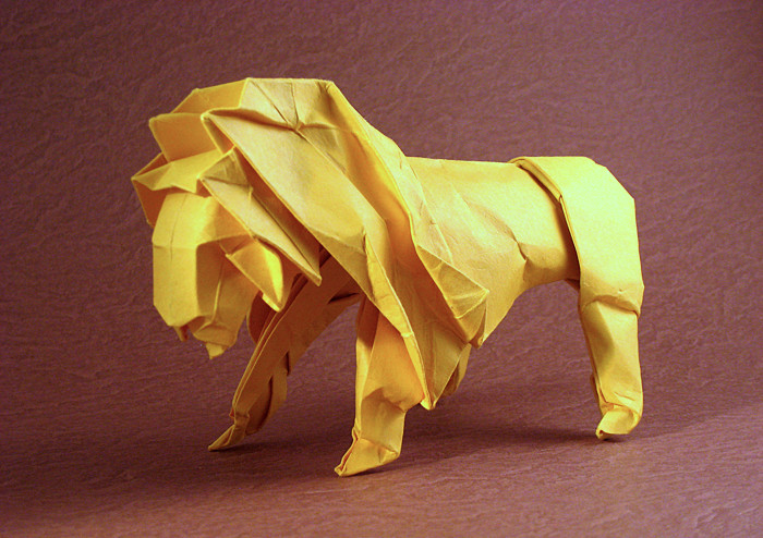 Origami Lion by Ronald Koh folded by Gilad Aharoni