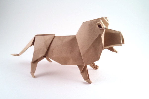 Origami Lion By Robert J Lang Folded From A Square Of Tant Gilad Aharoni