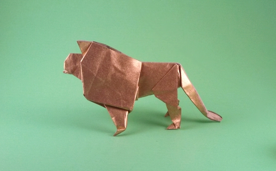 Origami Lion by Robert J. Lang folded by Gilad Aharoni