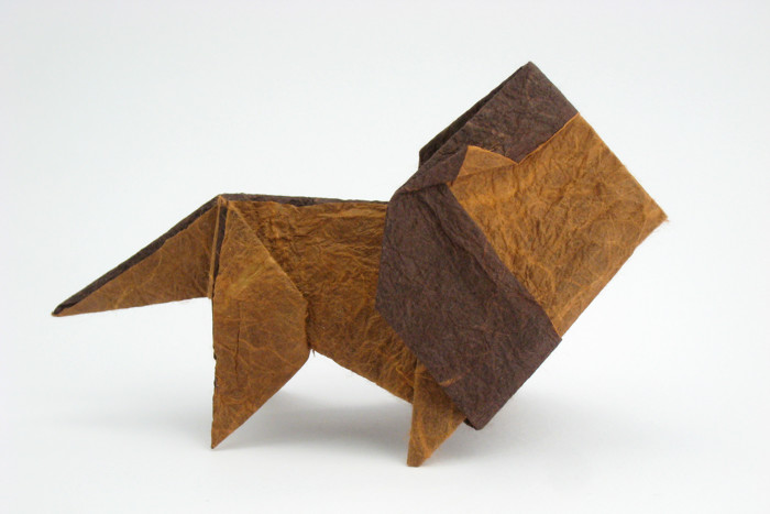 Origami Lion by Matsuno Yukihiko folded by Gilad Aharoni