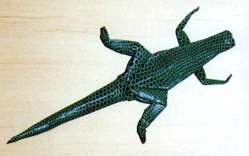 Origami Lizard - How To Make a paper Lizard - YouTube | 314x500