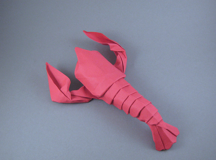 Origami Lobster - American by Michael G. LaFosse Wet-folded from a square of art paper by Gilad Aharoni on giladorigami.com