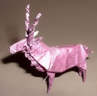 Origami Markhor by Ronald Koh folded by Gilad Aharoni on giladorigami.com