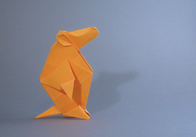 Origami Marmot by Robert J. Lang folded by Gilad Aharoni on giladorigami.com