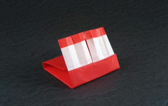 Origami Book of Matches by Laurie Bisman Folded from a rectangle of origami paper by Gilad Aharoni on giladorigami.com