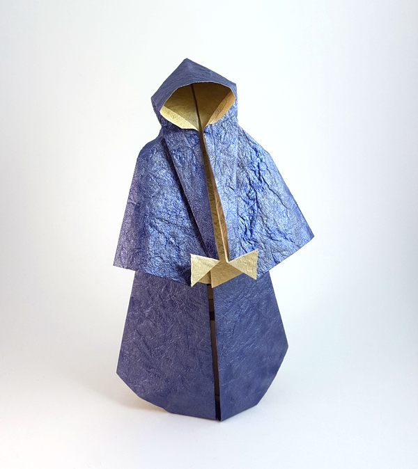 Origami Monk by Stephen Weiss folded by Gilad Aharoni on giladorigami.com