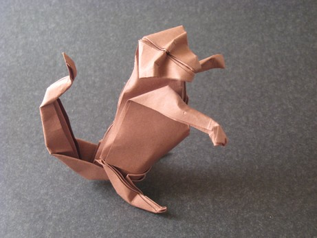 Origami Monkey by Christophe Boudias folded by Gilad Aharoni on giladorigami.com