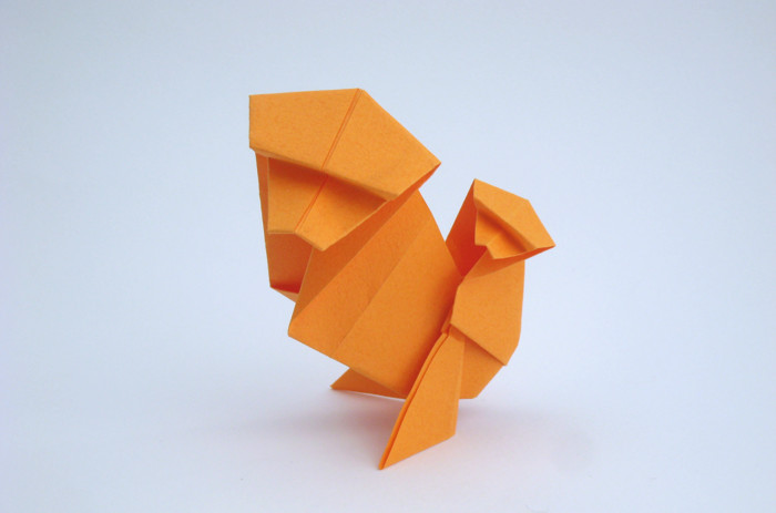 55 Square Origami Monkey With Baby On Back By Kunihiko Kasahara Folded From A Of Tant Paper