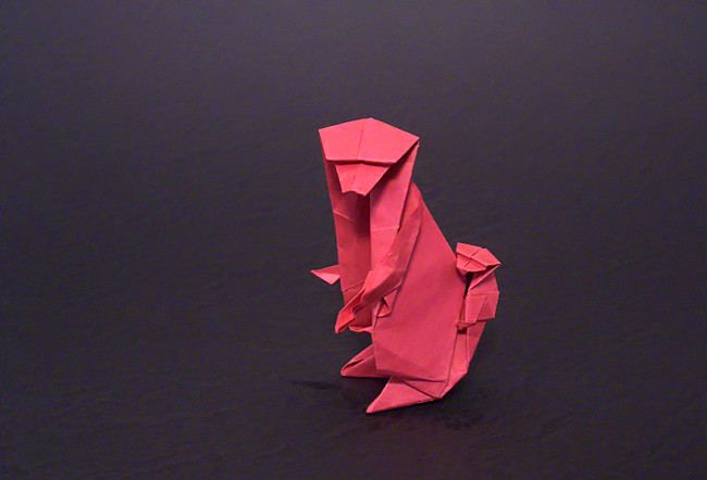 154 Square Origami Monkey And Young By Kunihiko Kasahara Folded From A Of Paper Gilad
