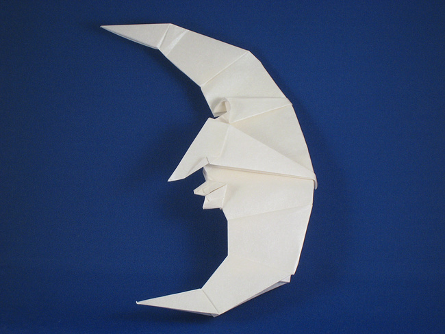 Origami Moon by Peter Engel folded by Gilad Aharoni