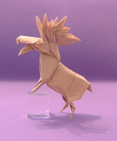 Origami Moose by John Montroll folded by Gilad Aharoni