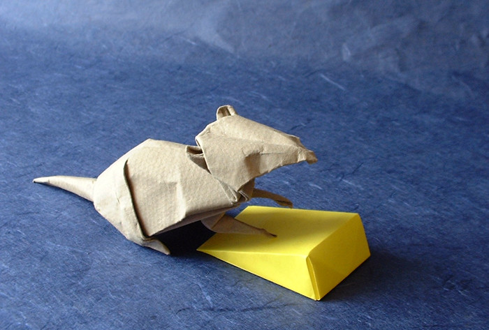 Origami Mouse by David Brill folded by Gilad Aharoni on www.giladorigami.com
