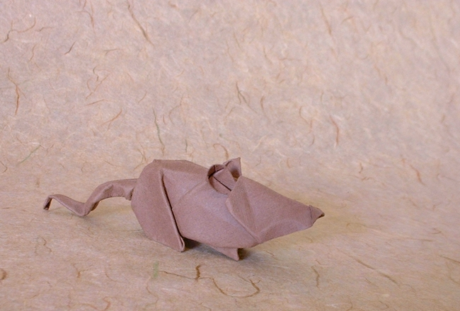 Origami Mouse by Alfredo Giunta folded by Gilad Aharoni on giladorigami.com