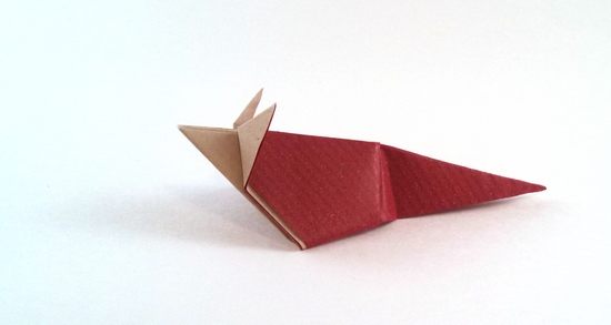 Origami Mouse by Paul Jackson folded by Gilad Aharoni