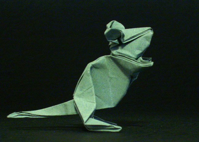 Origami Mouse by Kunihiko Kasahara folded by Gilad Aharoni