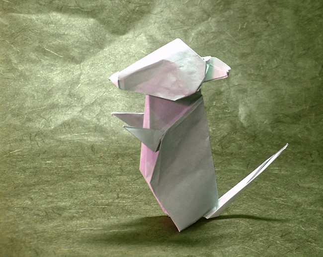 Origami Mouse by Hideo Komatsu folded by Gilad Aharoni on giladorigami.com