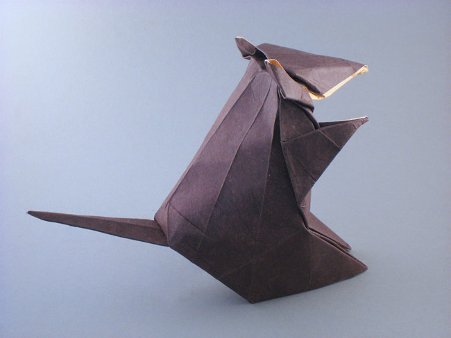 Origami Mouse by Nakai Tsutomu folded by Gilad Aharoni